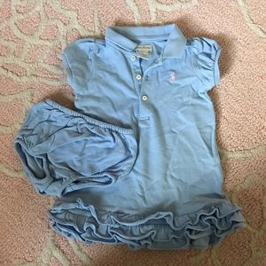 Ralph Lauren Baby Dress with Bloomer 9m